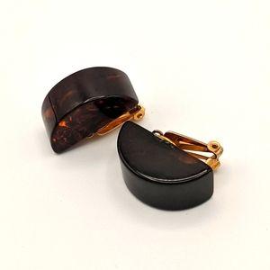 VTG Bakelite TESTED MCM Tortoise Shell Earrings